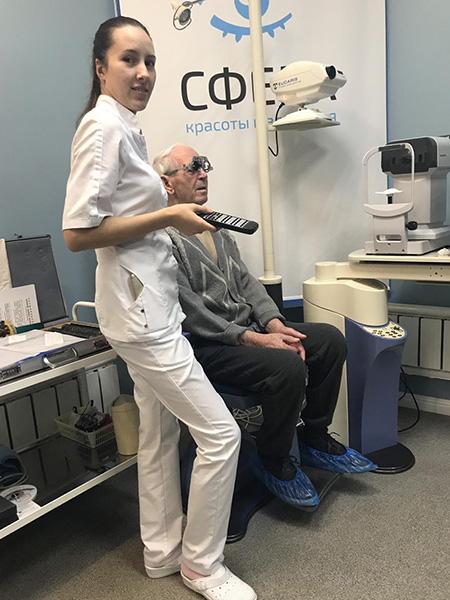 Благодарна врачам за спасённое зрение моему отцу